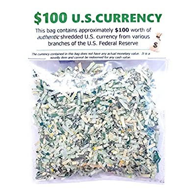 Shredded U.S. Money CASH Currency $100 Genuine Confetti Size Stocking Stuffers Surprise Gift: Toys & Games
