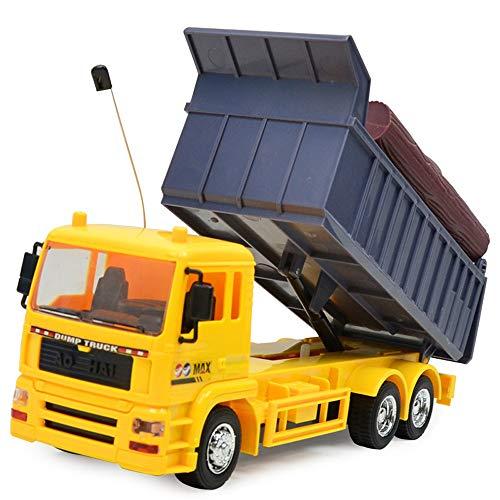 YIYEZI 1:24 Four-Wheel Drive RC Dump Truck Plastic Truck Remote Control Toy Vehicles (Yellow) ()
