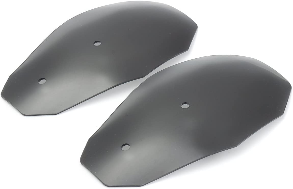 Alamor Motorcycle Hand Guard Handlebar Handguards Wind Deflector Protector Shield For Harley Honda Custom Black