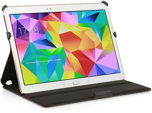StilGut UltraSlim Case, funda con funcion de soporte para el original Samsung Galaxy Tab S 10.5, en negro vintage Negro vintage