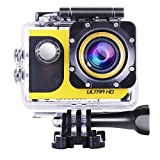 OldShark 4K WIFI Sports Action Camera, Car Dash Cam, Ultra HD Waterproof DV Camcorder, 20MP Wide Angle with 2 Rechargable Battery, Selfie Stick Portable Package with Full Accessories Kits Action Cameras OldShark