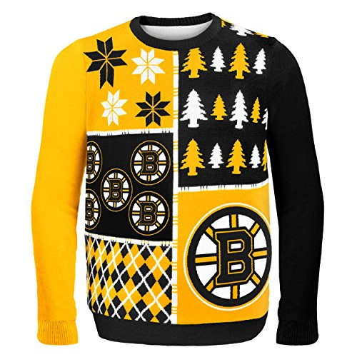 huge discount a2349 130e1 Forever Collectibles BOSTON BRUINS BUSY BLOCK UGLY SWEATER