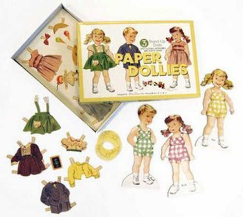Sliced Bread Classic Paper Dollies Retro Paper Doll Set by Sliced Bread