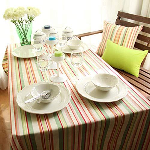 LMDY decoracion del hogar Mantel Rayas de Color Puro algodon Coreano Mesa de Comedor Comedor Sala de Estar Hotel Fiesta Mesa de Centro Mesa de Comedor Color 140 * 180 cm