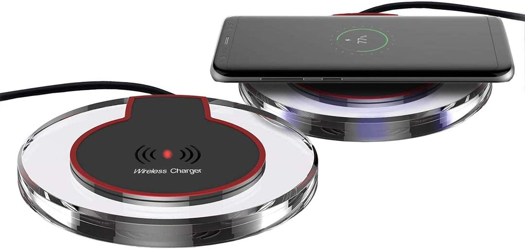 Universal Wireless Charging Pad Compatible with NeweriPhoneandAndroid
