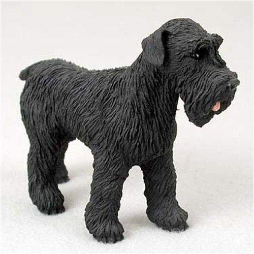 Schnauzer, Black, Uncropped Original Dog Figurine (4in-5in) ()