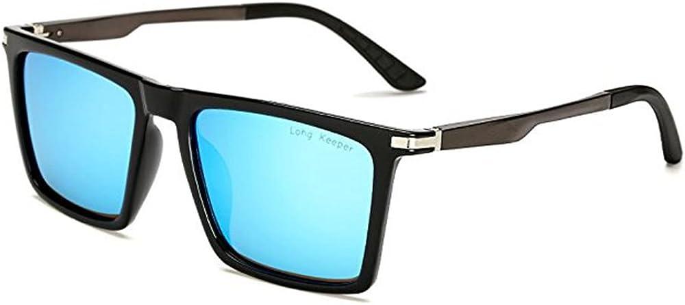 Long Keeper Polarizado Para Hombre Gafas de sol Cuadrado Clásico Unisexo Gafas de sol