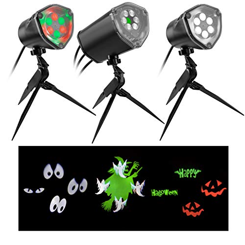 Gemmy 3-Light Synchronized Musical Outdoor Halloween Lightshow Holiday Decoration]()