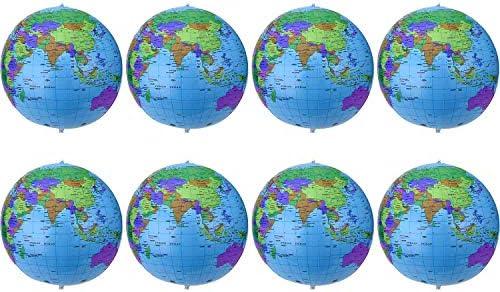 16 Pulgadas de Globo Inflable Globo de Tierra Inflable Bola de Playa para Juego en Playa Educativo, Colorido (8 Piezas)