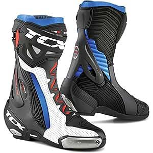 Botas de Moto TCX RT Race Pro Aire Blanco-Negro-Azul 43
