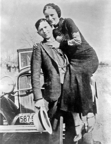 New 11x14 Photo: Bonnie Parker and Clyde Barrow, Depression-Era Outlaws