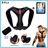 iWEAR Back Posture Corrector for Women and Men | Posture Trainer Back Brace for Clavicle Support & Back Straightener | Shoulder Support for Kyphosis, Scoliosis, Pain Relief & Neck Hump