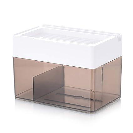 Caja De Papel Tisú De Almacenamiento Plástico Multiuso Estante De Almacenamiento Autoadhesivo Estante De Papel Tisú