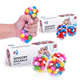 DNA Stress-Relief Sensory Stress Balls by Nyft Toys | Squishy Stress Toys | Squeezing Rubber Ball for Autism, ADHD, ADD, Sensory Needs, Bad Habits | The Calming Fidget Toy for Kids and Adults | 3 Pack