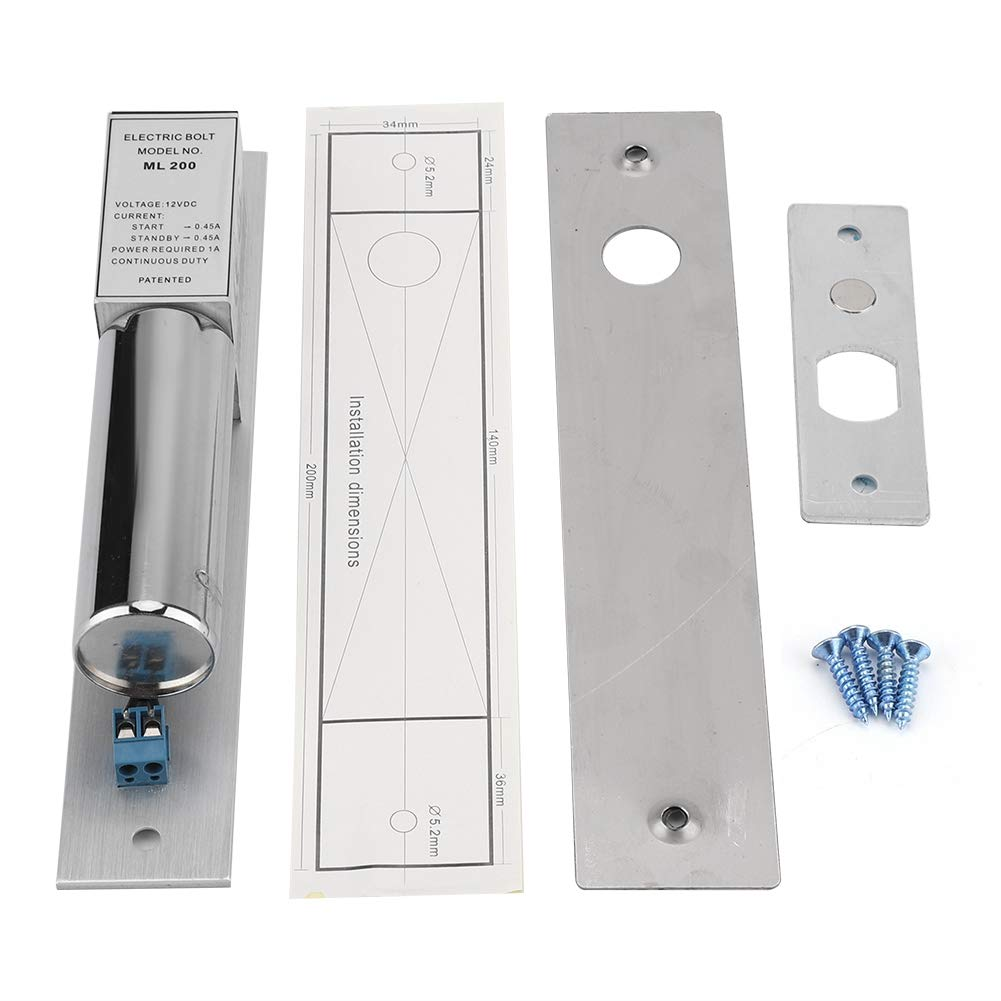 Haofy 12V DC Electromagnetic Mortise Lock, Induction Glass Metal Door Two Core Power Off Unlocking Safety System