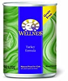Wellness Canned Cat Food, Turkey Recipe, 12-Pack of 12-1/2-Ounce Cans, My Pet Supplies