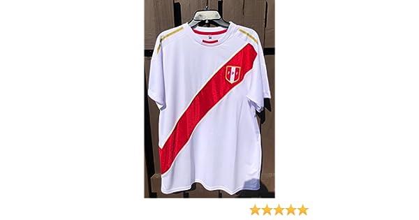 Amazon.com: Camiseta Seleccion Peruana Peruvian Soccer Jersey Replica in White: Clothing