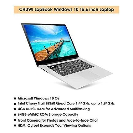 "CHUWI 15.6"" Windows 10 Laptop Computer Lapbook Notebook PC, Intel Cherry Trail Z8350 Quad"