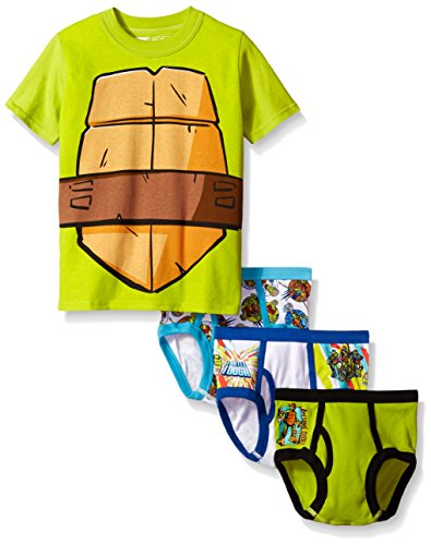 Nickelodeon Little Boys' Ninja Turtles 3pk Underwear and T-Shirt Set, Assorted, 6