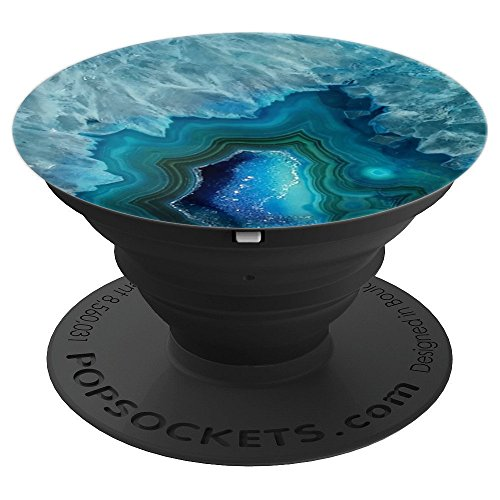 (AGATE PATTERN Geode Gems Design Druse Crystal Pretty Gift - PopSockets Grip and Stand for Phones and Tablets)