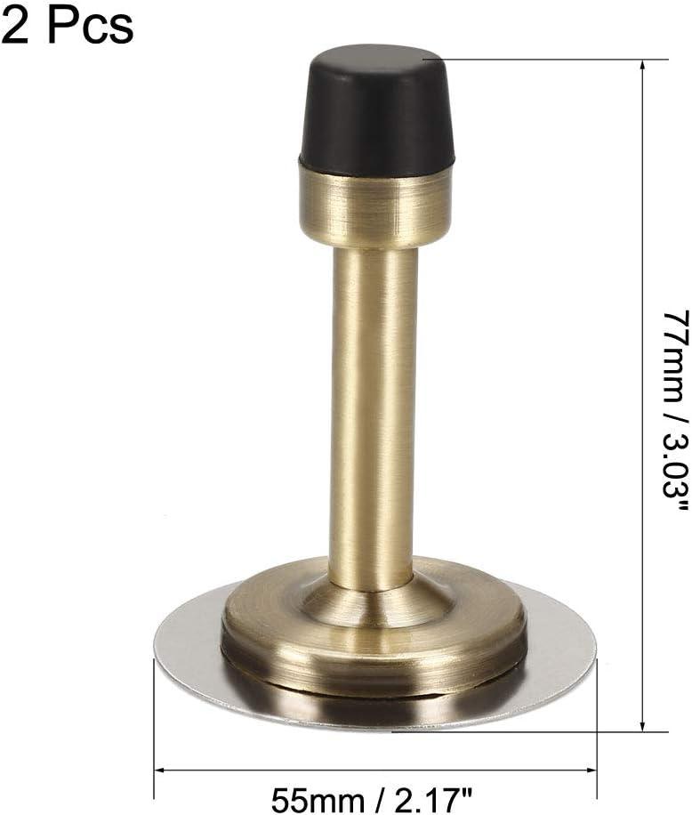 sourcing map Porte But/ée 201 Acier Inox Support Caoutchouc Pare-Choc 77mm Hauteur Bronz/é