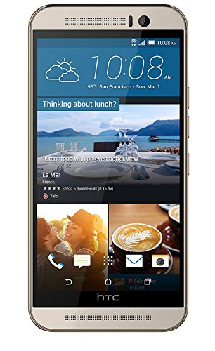 (HTC One M9 32GB T-Mobile GSM 4G LTE 20MP Camera Smartphone w/ Front-Facing Speakers - Silver / Gold - (Renewed))
