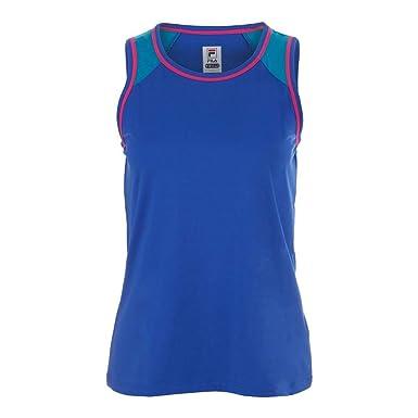 e0a47dd7fafd Fila Women's Sweetspot Full Coverage Tennis Tank Top, Automatic Blue  Heather, Blue Atoll,