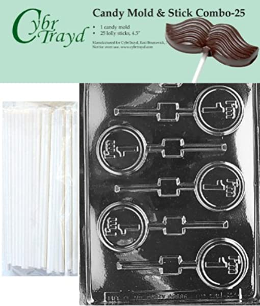I/'M 8 BIRTHDAY CHOCOLATE LOLLIPOP LOLLY MOULD 4 ON 1 CHOCOLATE OR SOAP