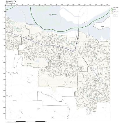 Amazon.com: ZIP Code Wall Map of Antioch, CA ZIP Code Map ...