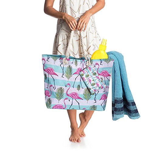 Shopping Bag Elephant Tote Shoulder Flamingo Girls for ZWOOS Travel Bag Holiday 5 Women Zip Beach Oversized and Large with xqzg0a