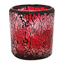Kiera Grace Mosaic Glass LED Candle, 2.76 by 3.15-Inch, Sweet Berry Fragrance