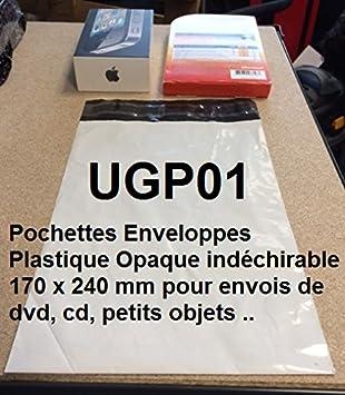 lot de 0010 bianco Involucro Plastica Opaca Bianca di Expedition invio postale tutti formati e Quantit/à 250 x 350 mm