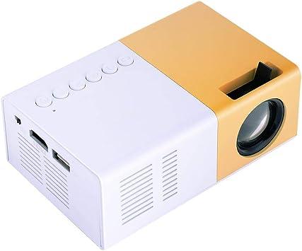 Opinión sobre Mini proyector portátil, 16: 9 320 × 240P 1080P 1500lm Full HD Movie/Photo/Music Handheld Proyector, para regalo de niños/Home Theatre/Viajes al aire libre, 30000 horas de vida de la lámpara(EU)