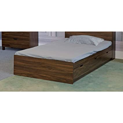 Amazon Com Benzara Bm179678 Wooden Twin Size Bed With