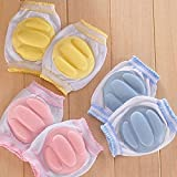 LUQUAN 1 Pair Kids Safety Crawling Elbow Cushion Baby Knee Pads Protector Infants Toddlers Leg Warmers Kneecap 3 Colors