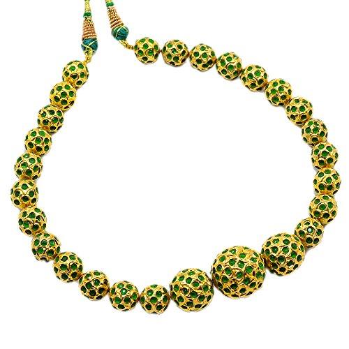 silvesto Inde Vert émeraude (créé) Collier Plaqué or pour filles et femmes pg-24323