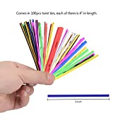 """600pcs 4"""" Metallic Twist Ties-6Color:red, blue, green, gold, silver and pink"""
