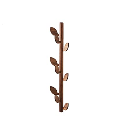 Vertical wall mounted coat rack Space Saving Coat Rack Leaf Wall Mounted Solid Wood Tree Clothes Hat Holder With Wood Ltype Amazoncom Amazoncom Coat Rack Leaf Wall Mounted Solid Wood Tree Clothes Hat