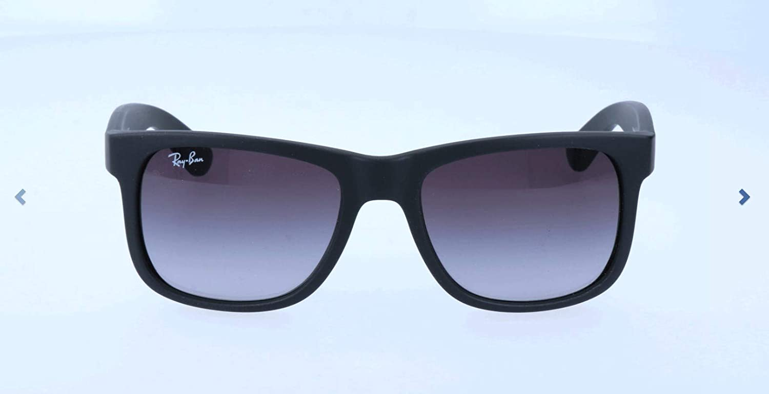 1a661013f Amazon.com: Ray-Ban Sunglasses - RB4165 Justin / Frame: Black Rubber Lens:  Gray Gradient (55mm): Clothing