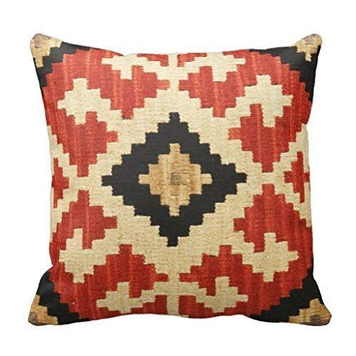 ZOZGETU Pillowcase,Soft Cotton&Linen Cushion Cover s Throw Pillow Tribal Patterns Geometric Indian Native Wester Decor Pillow Case Home Decor 18
