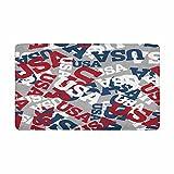 InterestPrint American USA Texture Indoor Entrance Rug Floor Mats Shoe Scraper Doormat 30 X 18 Inches