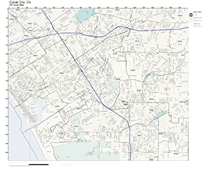 Amazon Com Zip Code Wall Map Of Culver City Ca Zip Code Map