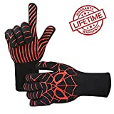 Goutoday Oven Gloves Heat Resistant Cooking Mitts-BBQ Grilling Cooking Gloves –  Fireplace Accessories and Welding,Cut Resistant and Forearm Protection with High Performance Heat Resistance Review
