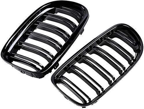 Grilles de calandre avant double chevalet 09-11 4 portes E90 E91 noir brillant