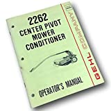 Gehl 2262 Center Pivot Mower Conditioner Operators Owners Manual Hay Grass