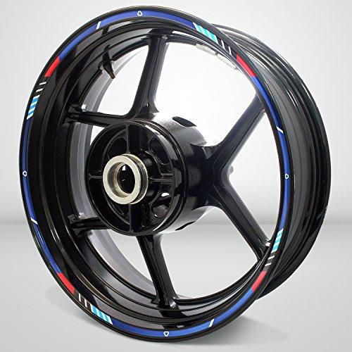 RS0002 decal wheel rim sticker graphics stripe kit for Suzuki Motorcycles -