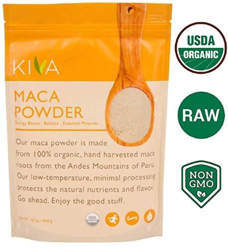 Kiva Organic Maca Powder - Non-GMO, RAW and Vegan (16-Ounce)