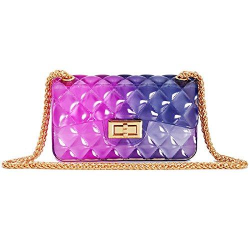 Fragrance Lingge Chain Mini Summer Bag F Shoulder Locking Women Color Small Jelly Gradient X0xwAq