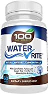 Water Rite: Natural Diuretic Water Pills, Advanced Water Loss Supplement, Water Away with Dandelion, Potassium, Green Tea & Cranberry, Vitamin B-6 and More, by 100 Naturals