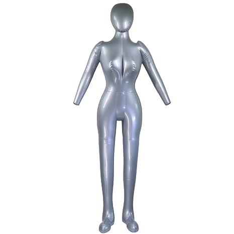 Maniquí hinchable de cuerpo completo con brazo para mujer: Amazon ...